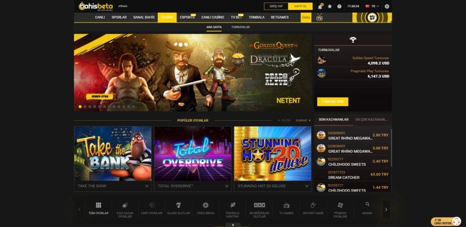 bahisbeta casino oyunları