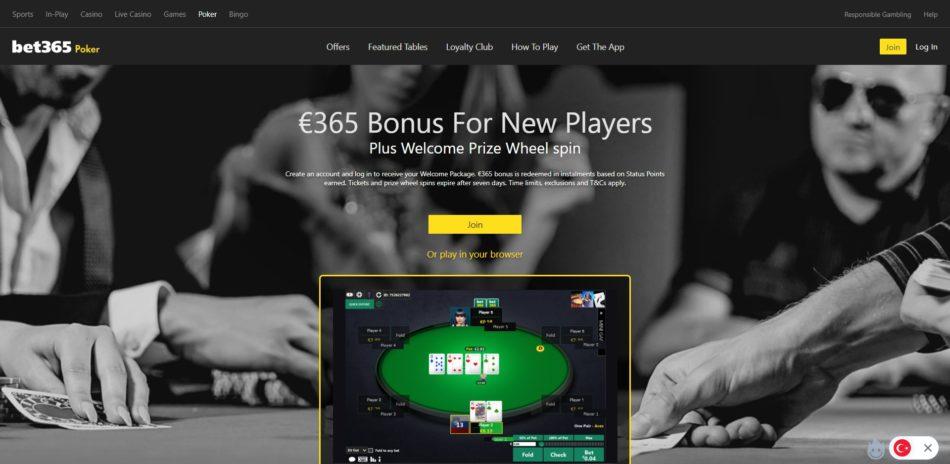 bet365 poker masaları ve oyunları