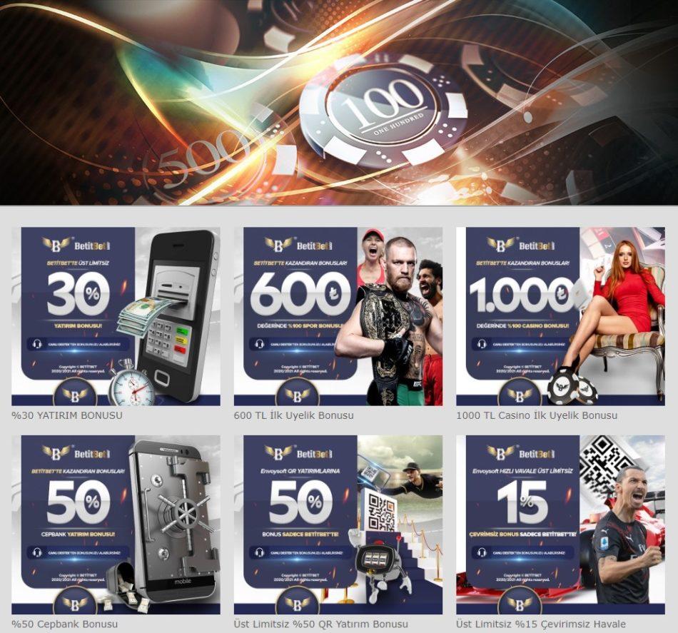 Betitbet Giriş Bonusları ve Promosyonları Sayfası