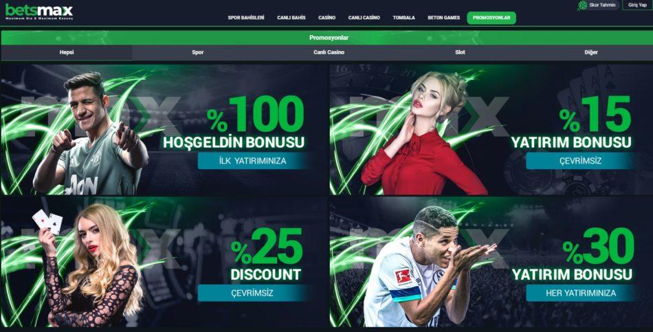 Betsmax giriş bonusları ve promosyonları