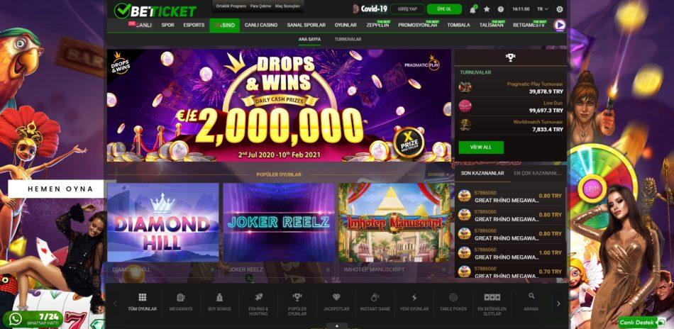 betticket casino oyunları