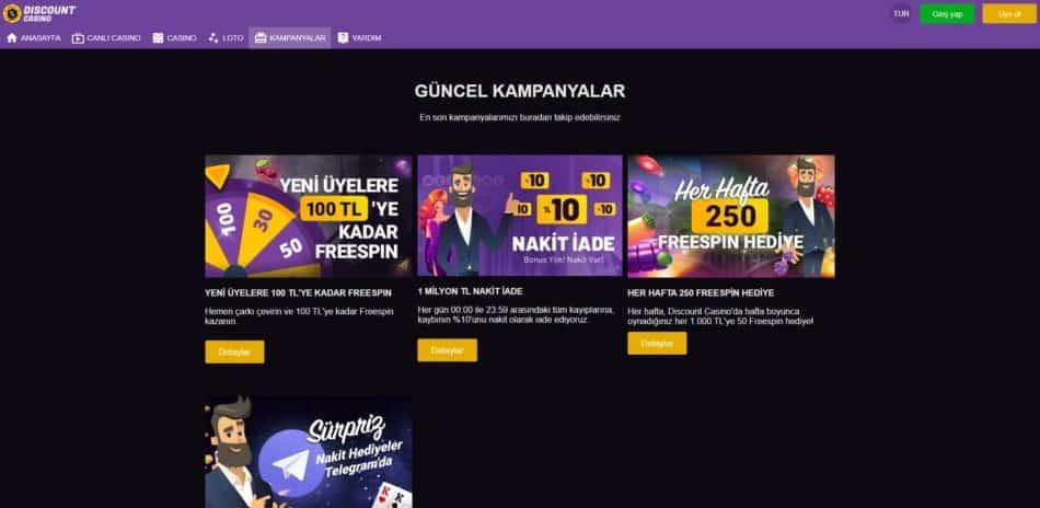 discount casino bonuslar