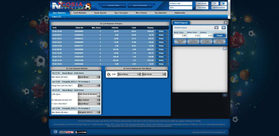 nicosia betting incelemesi