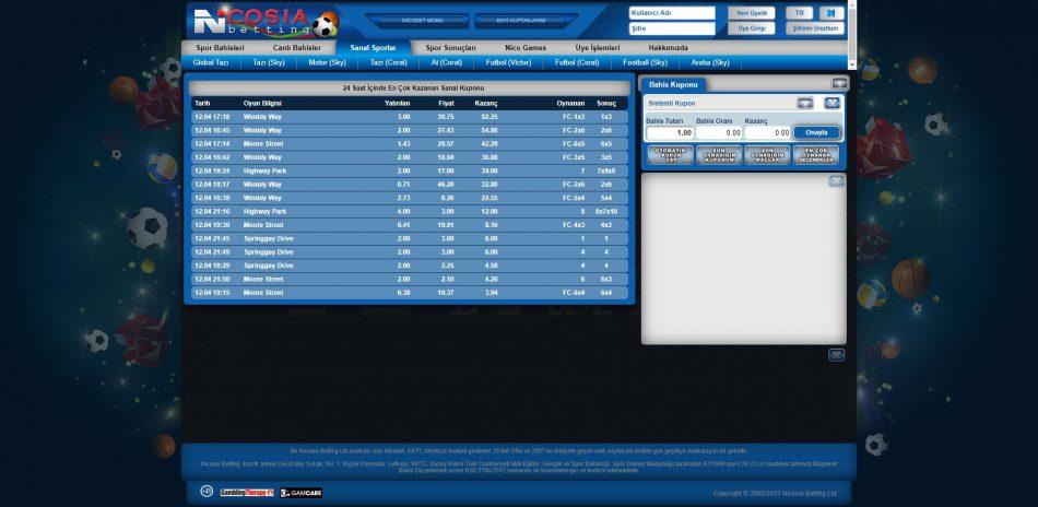 nicosia betting sanal